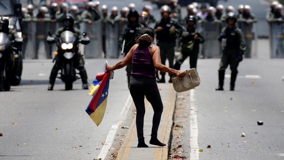 Protestas en Venezuela contra el régimen de Maduro. Foto: Punto de Corte.