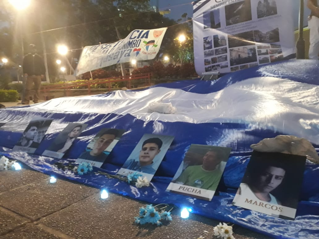 Homenaje en Costa Rica, a las víctimas de la dictadura. Foto: Alfonso Malespín.