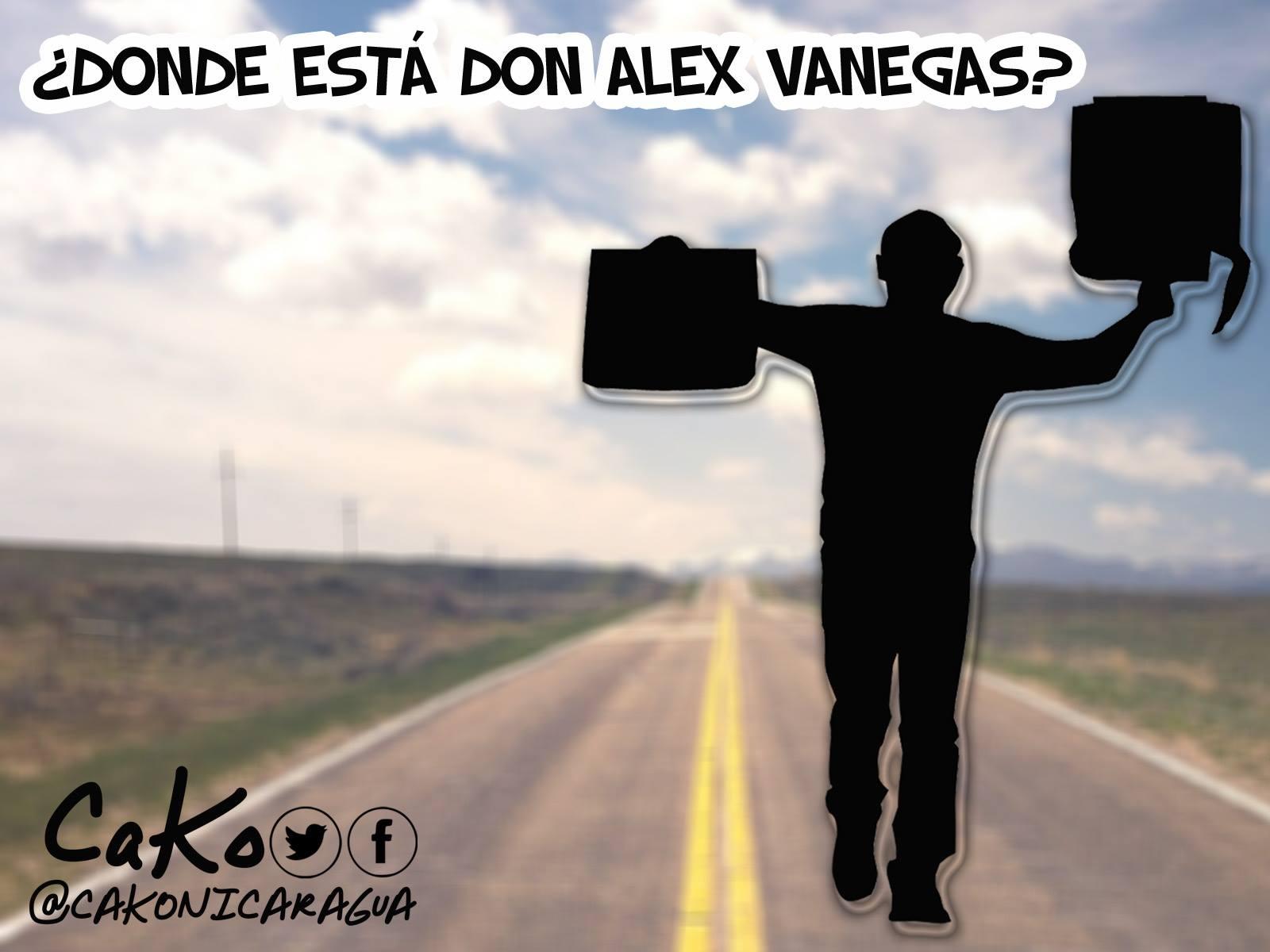 La Caricatura: ¿Dónde está don Alex Vanegas?