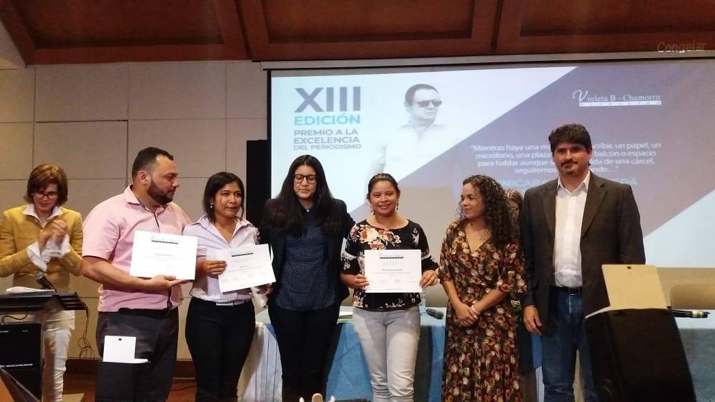 """Artículo 66 gana premio a la excelencia periodística """"Pedro Joaquín Chamorro"""". Foto: María Gómez/Artículo 66"""