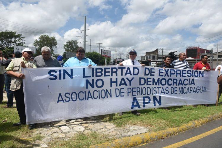 Asociación de Periodistas de Nicaragua rechaza legitimar reformas tributarias del orteguismo. Foto: Cortesía