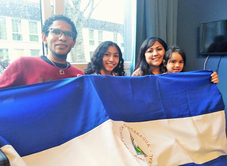 La familia nicaragüense Ebanks Delgado. Foto/L.Picado