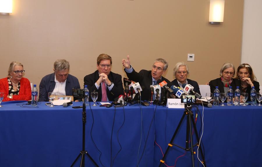Conferencia eurodiputados. Foto : El Nuevo Diario.