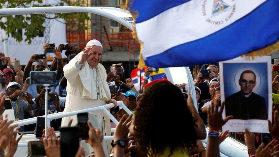 Papa Francisco se fue de Centroamérica sin pronunciar una sola palabra sobre crisis de Nicaragua. Foto: Cortesía