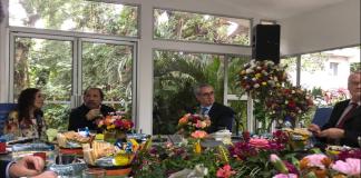 Reunión de eurodiputados con Daniel Ortega y Rosario Murillo.