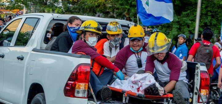 Foto de la masacre del 30 de mayo de 2018. Foto: Tomada de la web.