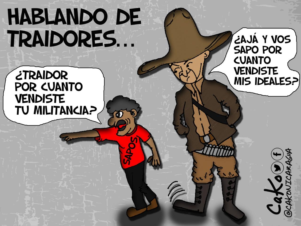 Los nuevos traidores. Caricaturista: Cako