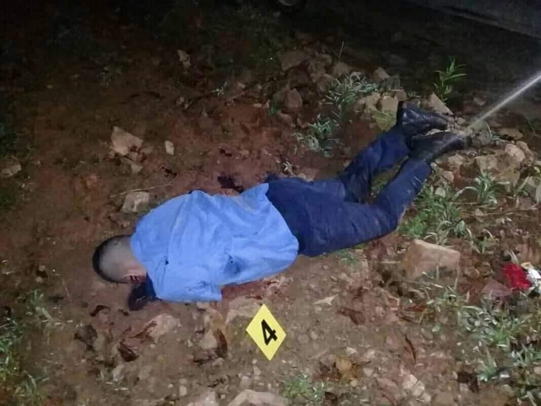 Agente policial asesinado la tarde este jueves.