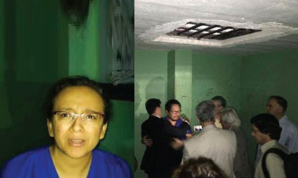 Lucía Pineda y Miguel Mora durante estuvieron secuestrados por el régimen.