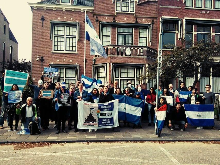 Un grito de solidaridad con Nicaragua desde Holanda. Foto/L.Picado