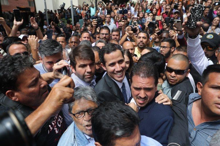 El 23 de enero, Juan Guaidó se proclamó presidente interino de Venezuela. Foto/EFE