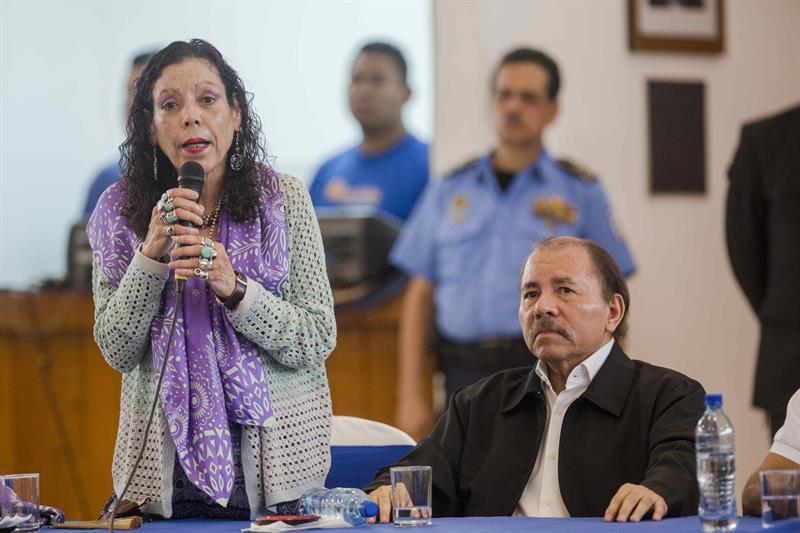 Daniel Ortega en la apertura del diálogo nacional. Foto Archivo/EFE