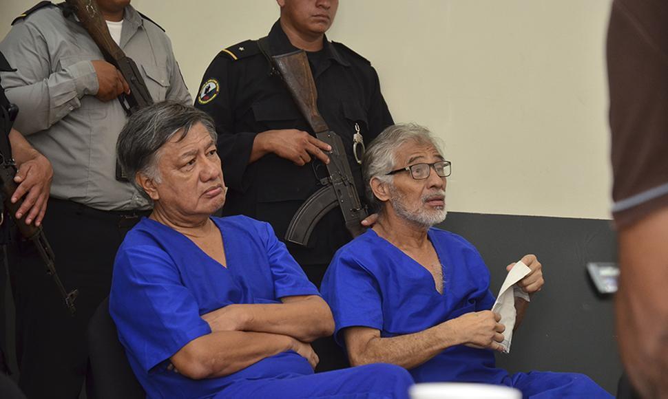 Los militares retirados Carlos Brenes Ramírez y Tomás Pérez Maldonado. Foto: El Nuevo Diario.