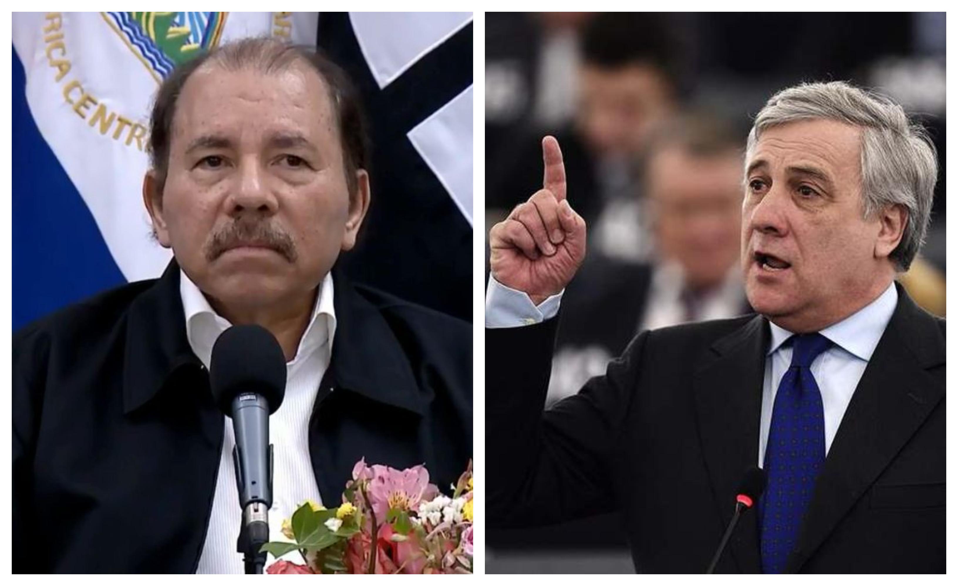 Tajani mandó fuerte carta a Daniel Ortega.