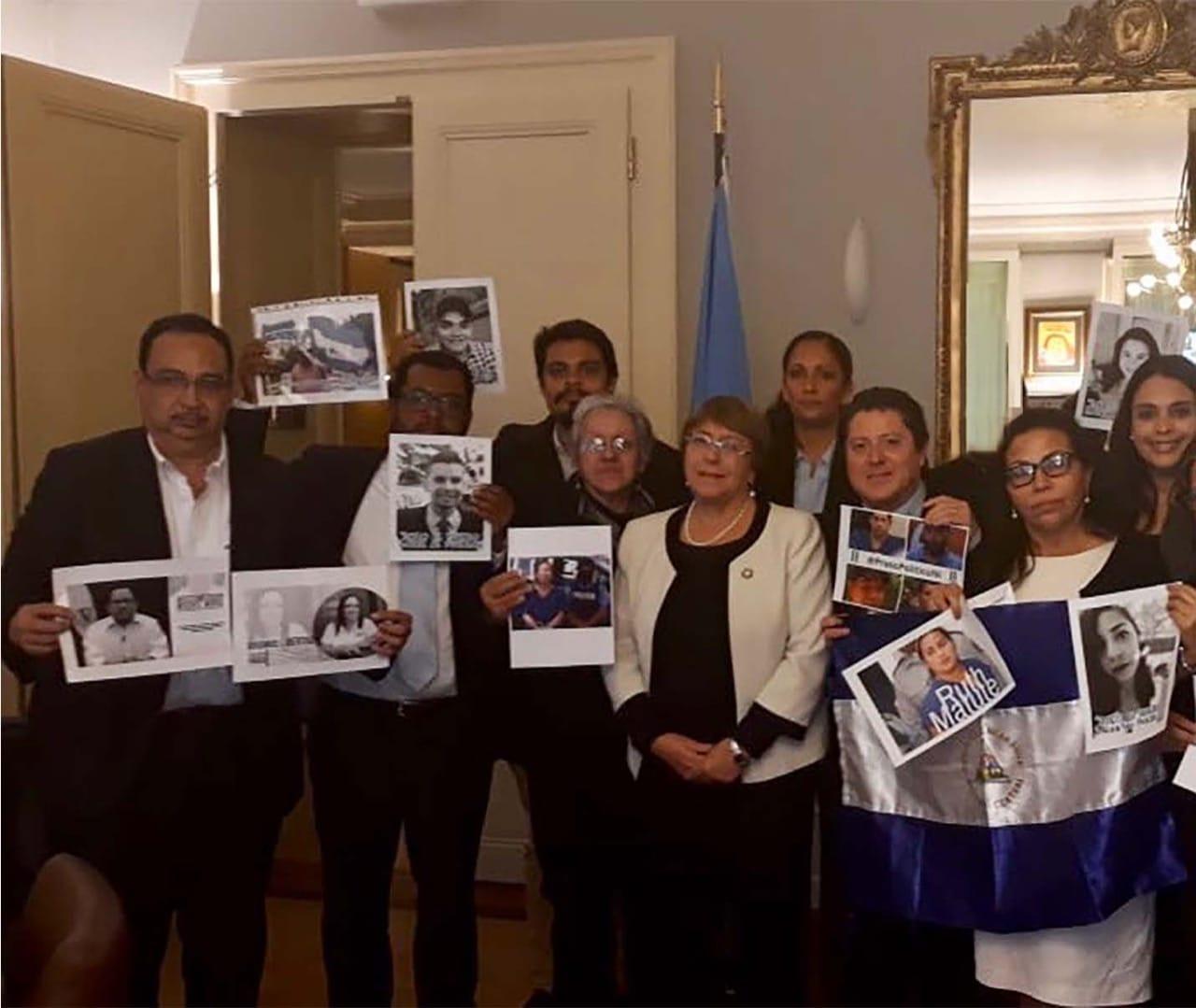 Delegación nicaragüense se reúne con la Alta Comisionada para los derechos humanos de la ONU. Foto/Cortesía