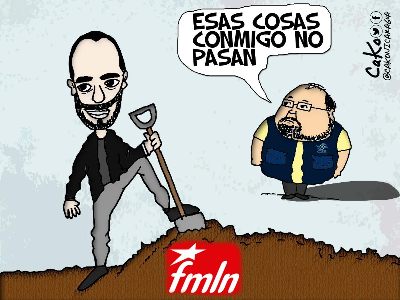 La Caricatura: A lo que le tiene terror el FSLN. Caricaturista: Cako