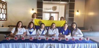 Mujeres de la diáspora nicaragüense denuncian en Miami los abusos contra las presas políticas. Foto: Cortesía