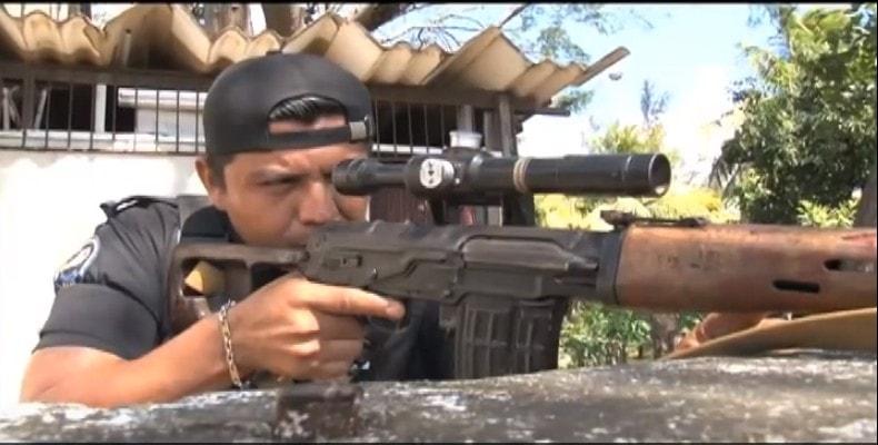 """""""La Policía usaba mirada laser para disparar"""", cuenta exatrincherado desde el exilio. Foto: Archivo."""