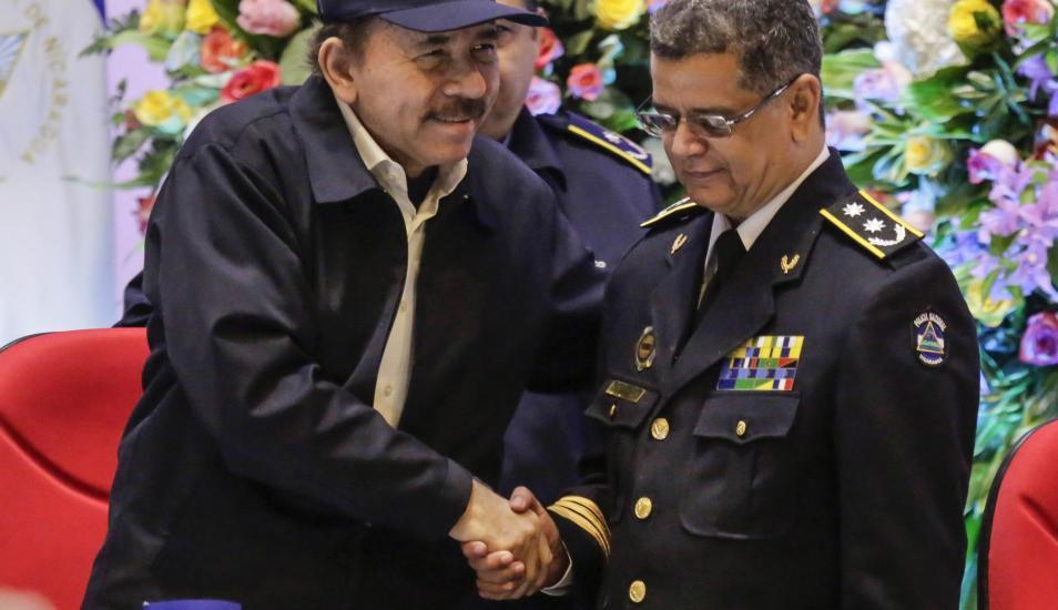 Guardia orteguista niega confesión de la exministra de Gobernación sobre espionaje policial. Foto: Cortesía
