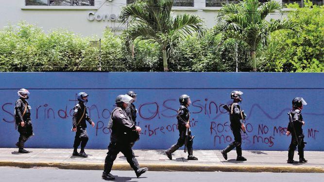 Canciller Moncada defiende represión ejecutada por la Policía orteguista. Foto/LaPrensa