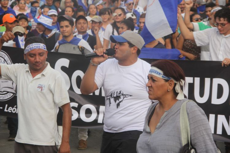 Líder universitario encarcelado pide a Alianza Cívica no rendirse y buscar la libertad de Nicaragua. Foto: Cortesía