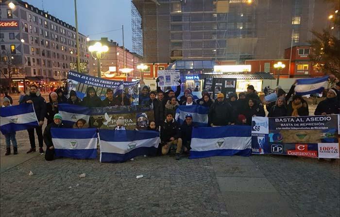 Nicaragüenses en España convocan a concentración nacional a un año de la crisis sociopolítica. Foto: Cortesía