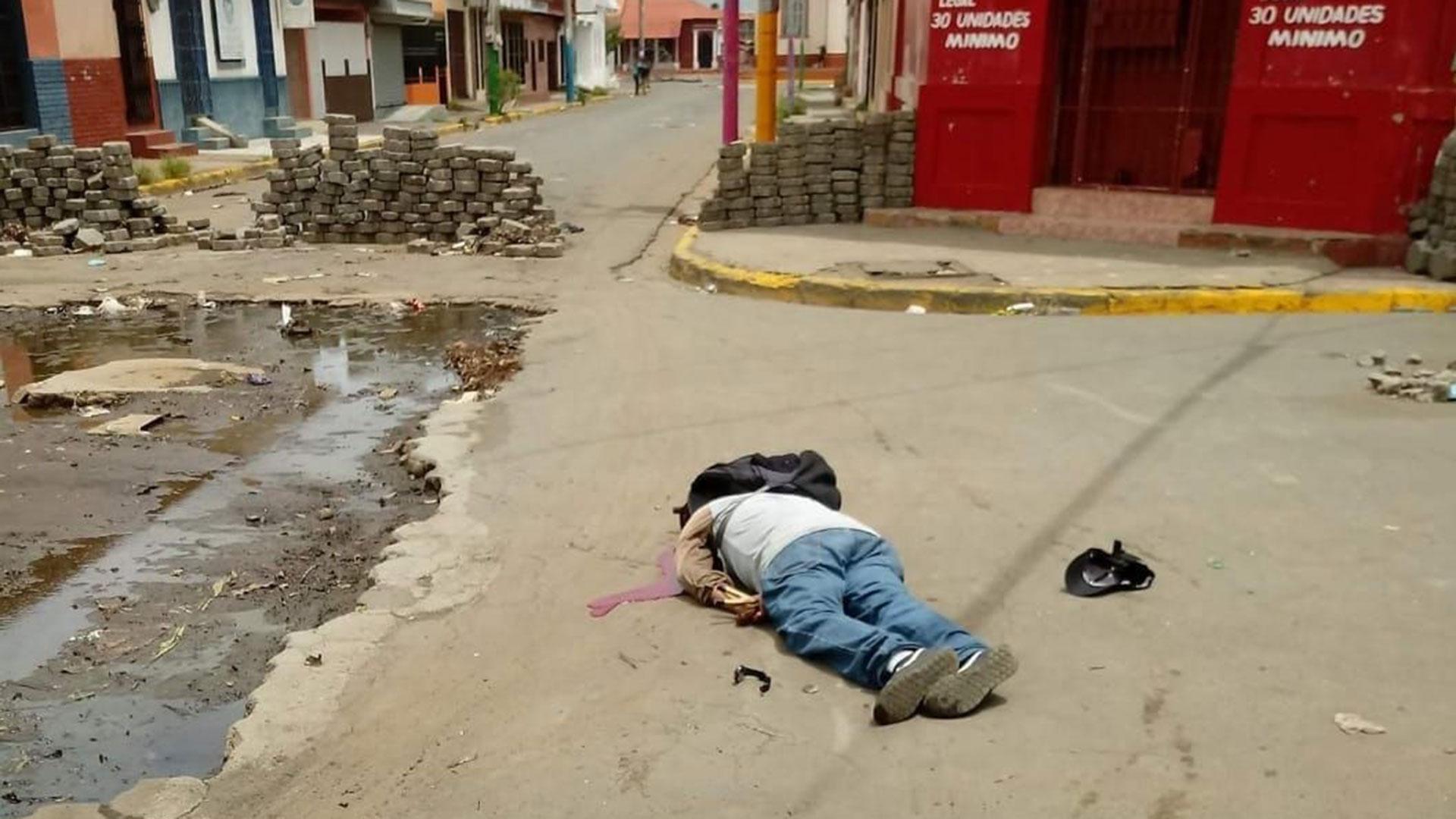 Victima mortal de la represión en Nicaragua. foto: tomada de internet.