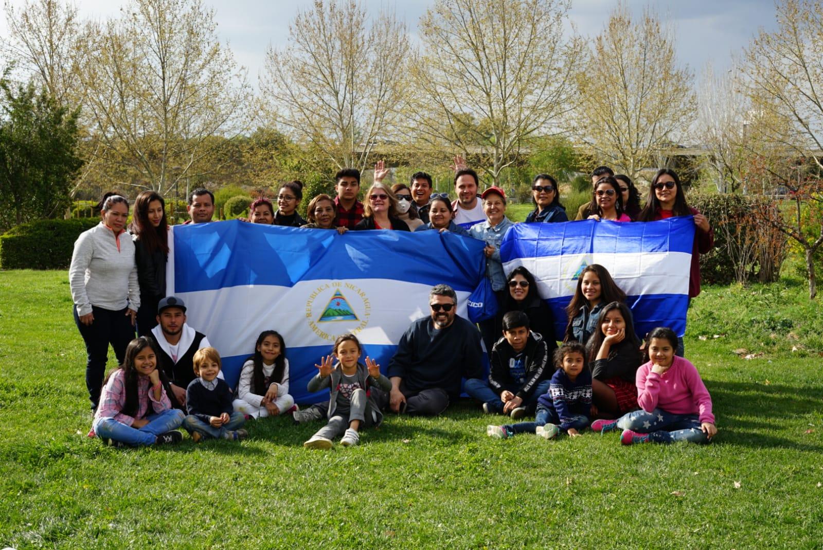Actividad realizada en Granada, España, de la comunidad de nicaragüenses en esa ciudad. Foto: D. Rodríguez/Cortesía