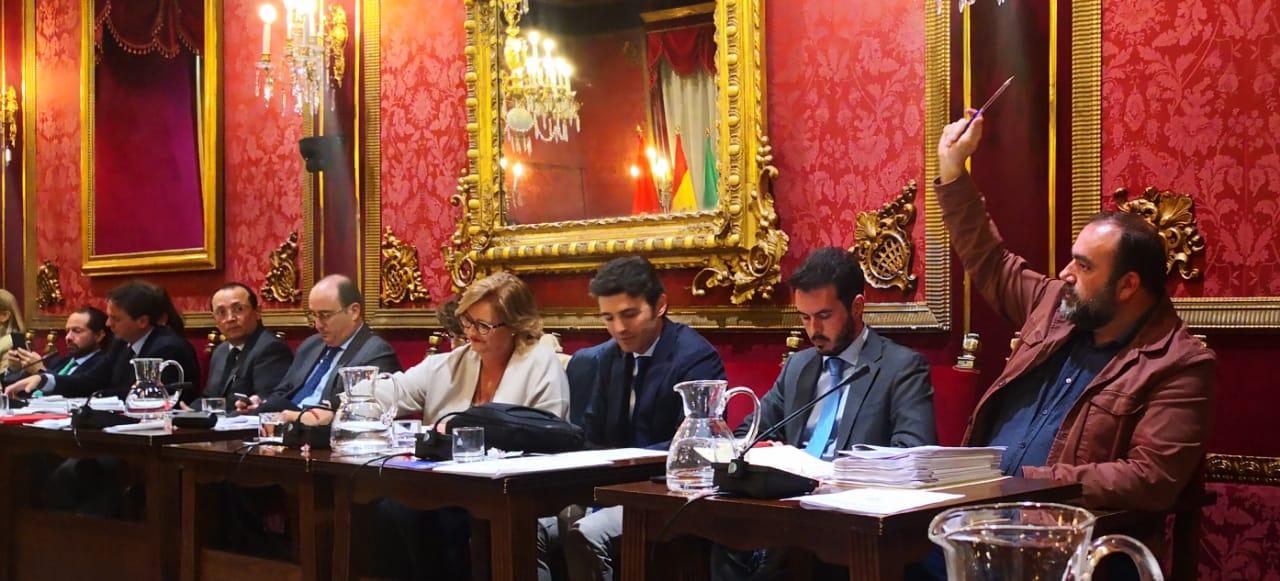 Francisco Puentedura, de IU, el único concejal que votó en contra de la moción. Foto: Artículo 66