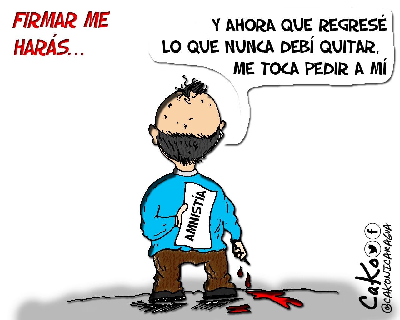 La Caricatura: Tratos sobre sangre y dolor. Caricaturista: Cako