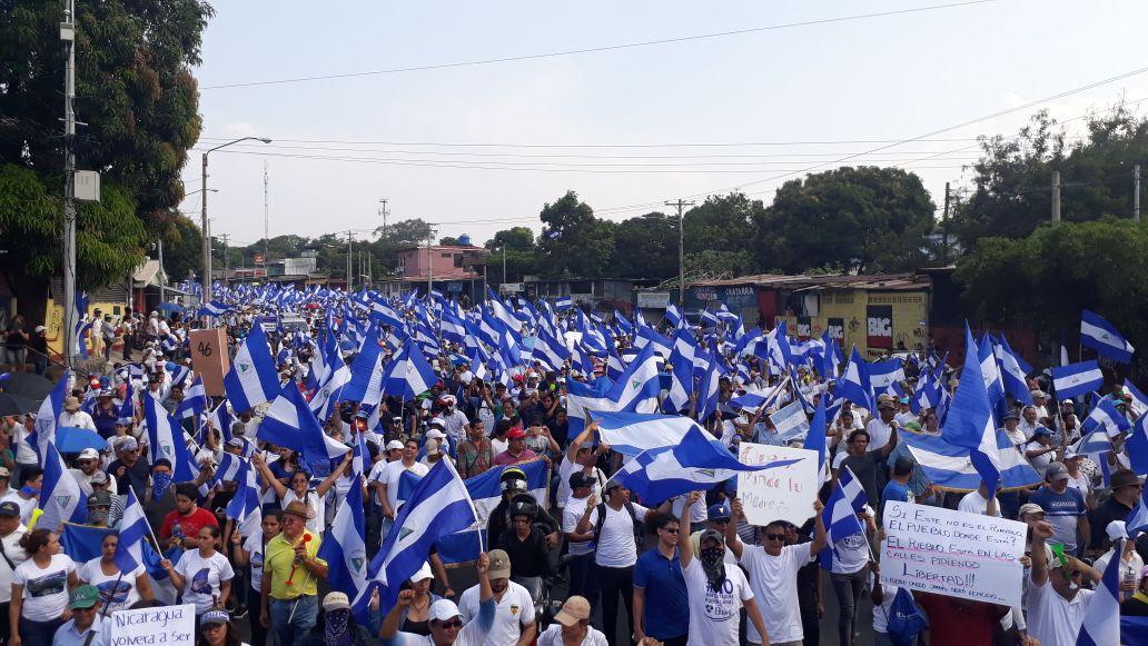 UNAB marchará sin permiso de la policía este sábado. Foto: El Nuevo Diario.