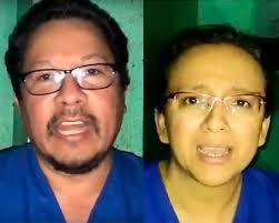 Periodistas Miguel Mora y Lucía Pineda, presos políticos de la dictadura.