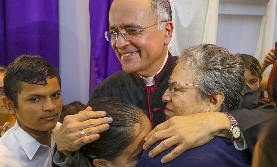 """""""El obispo"""", el poema a monseñor Silvio Báez. Foto: Cortesía"""