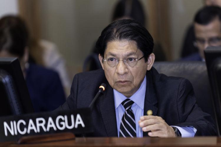 Dictadura de Ortega vuelve al banquillo de los acusados en la OEA. Foto: Juan Manuel Herrera/OAS