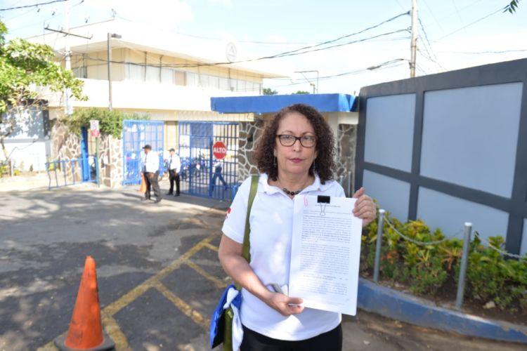 Comandante Mónica Baltodano interpone recurso ante la Corte Suprema de Justicia por el desmantelamiento de la Fundación Popol Na. Foto: END