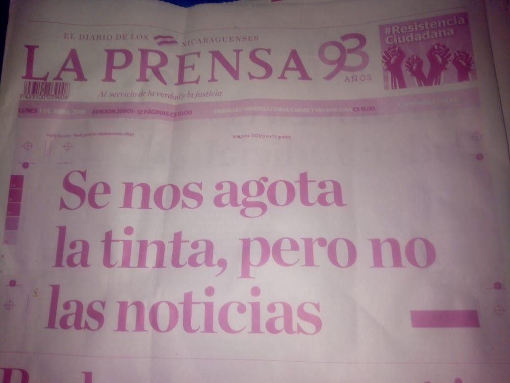 La Prensa lanza tercer SOS sobre secuestro de material para imprimir el periódico