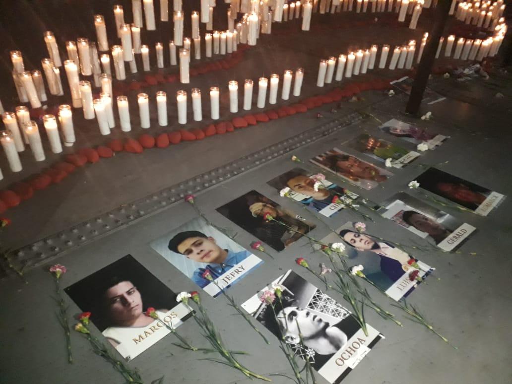 Obra en honor a los asesinados desde abirl de 2018. Foto: Alfonso Malespín/Artículo66