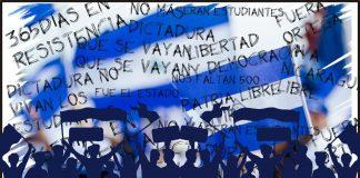 Nicaragua, a un año de protestas cívicas y represión estatal. Ilustración: Cako