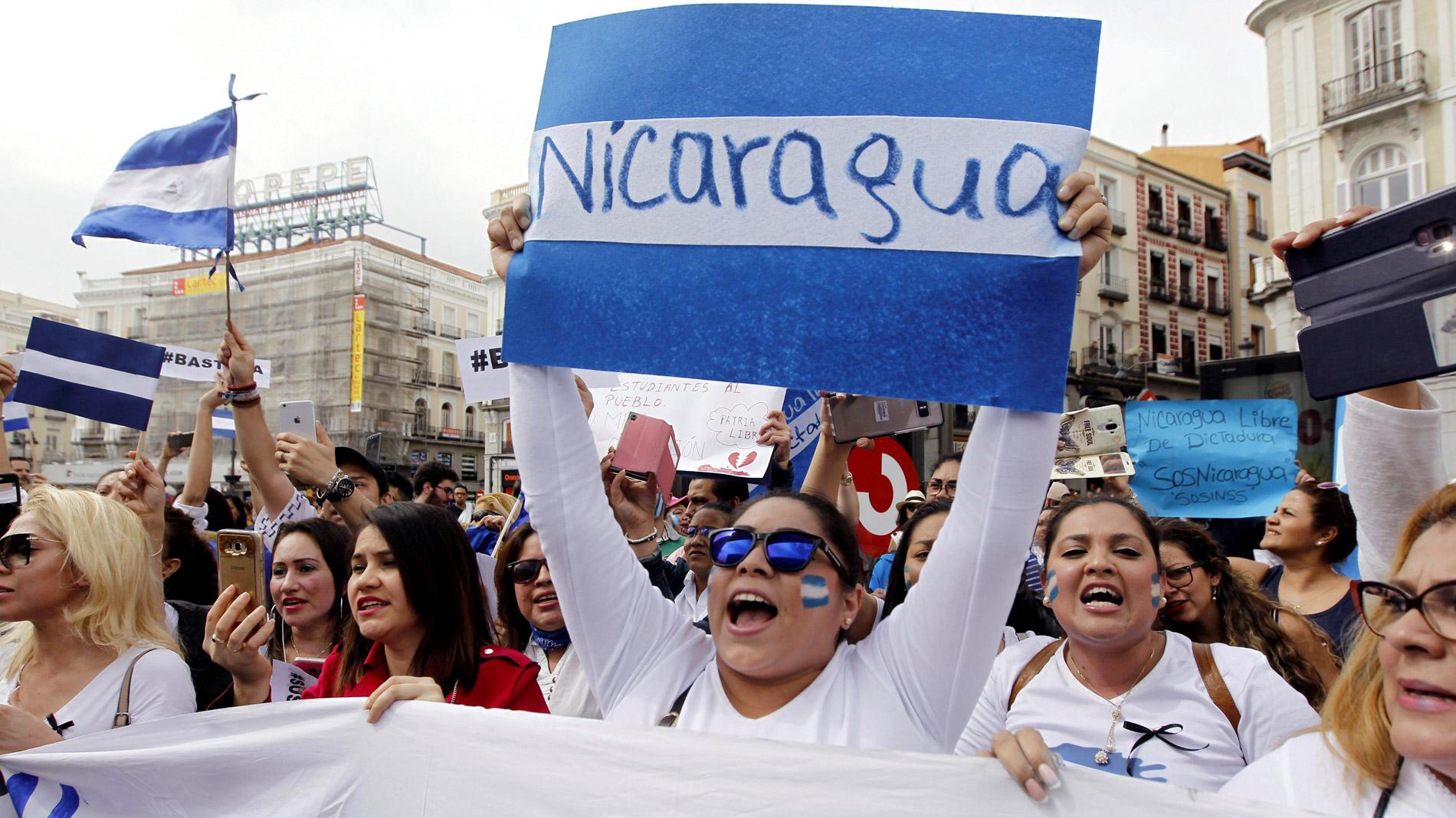 Nicaragüenses en el mundo se preparan para conmemorar el primer aniversario del estallido de abril. Foto/RTVE