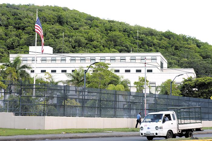 Embajada de los Estados Unidos, en Managua. Foto: La Prensa.