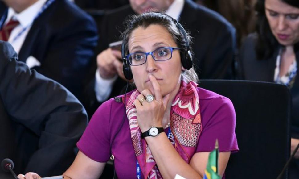 Ministra de Asuntos Exteriores, Chrystia Freeland. foto: tomada de internet.