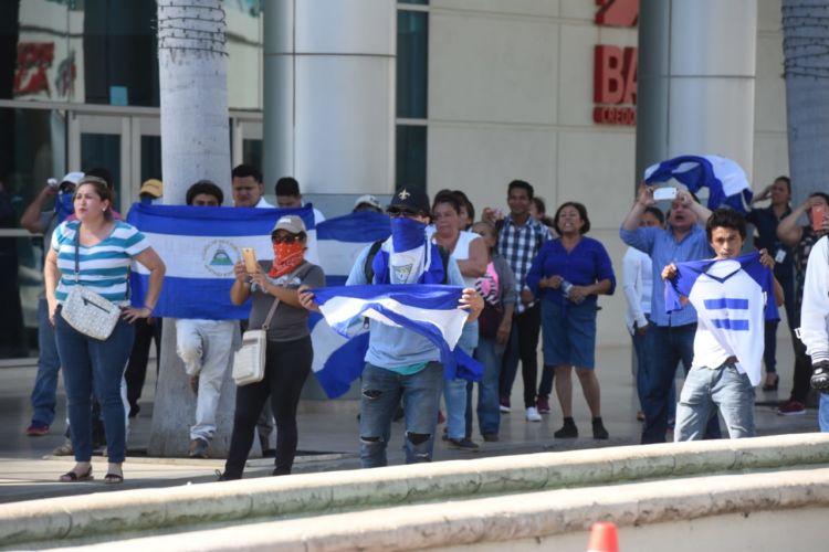 Protesta en Managua. Foto: La Prensa