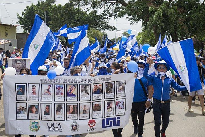 CIDH exhorta a la dictadura respetar el derecho a la libre movilización. Foto Jader Flores/ LA PRENSA