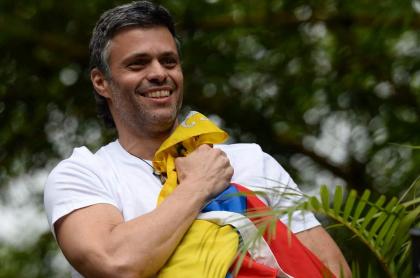 Leopoldo López se refugia en la Embajada de España en Caracas. Foto: Cortesía