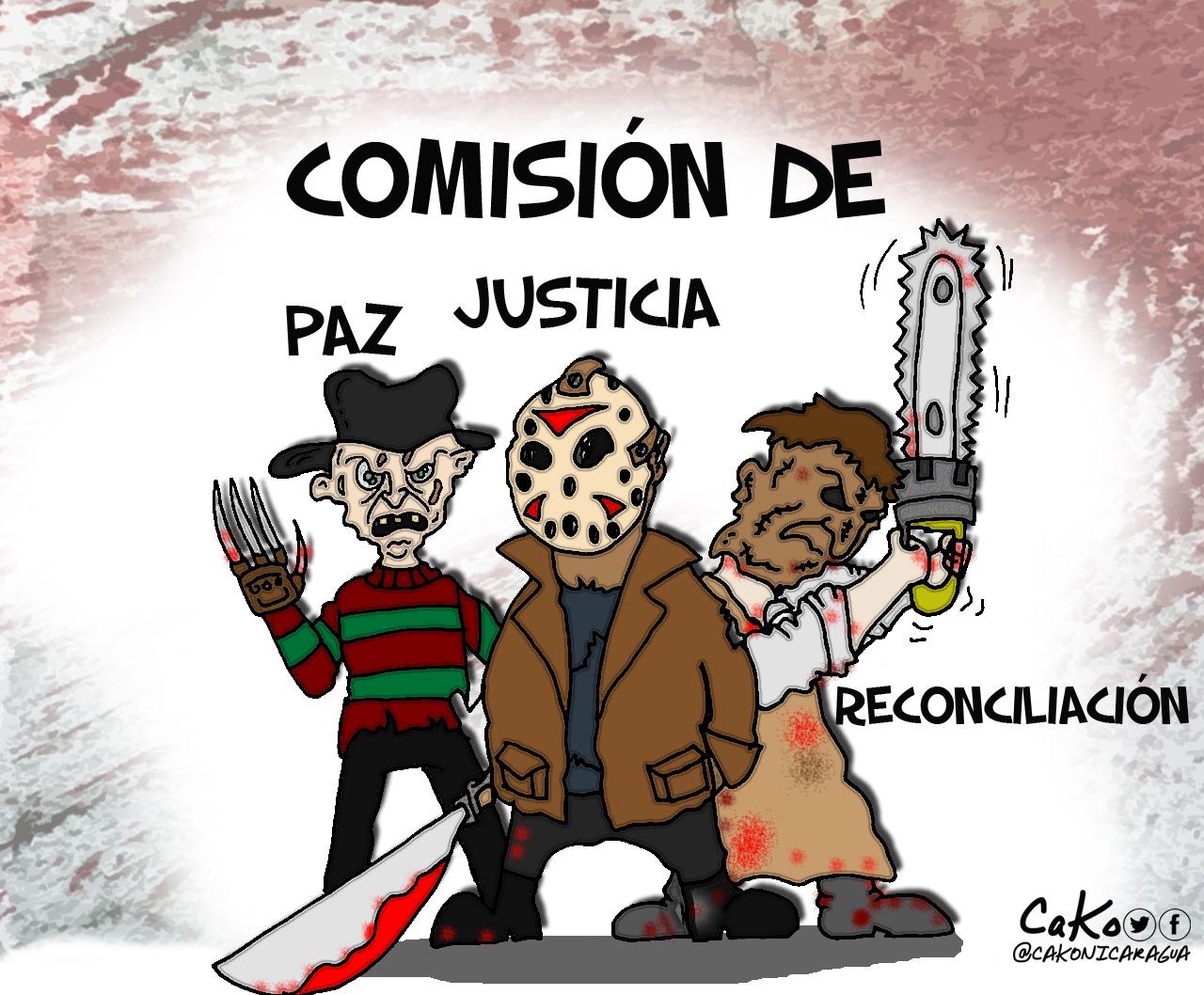 La Caricatura: La amorosa paz, justicia y reconciliación orteguista