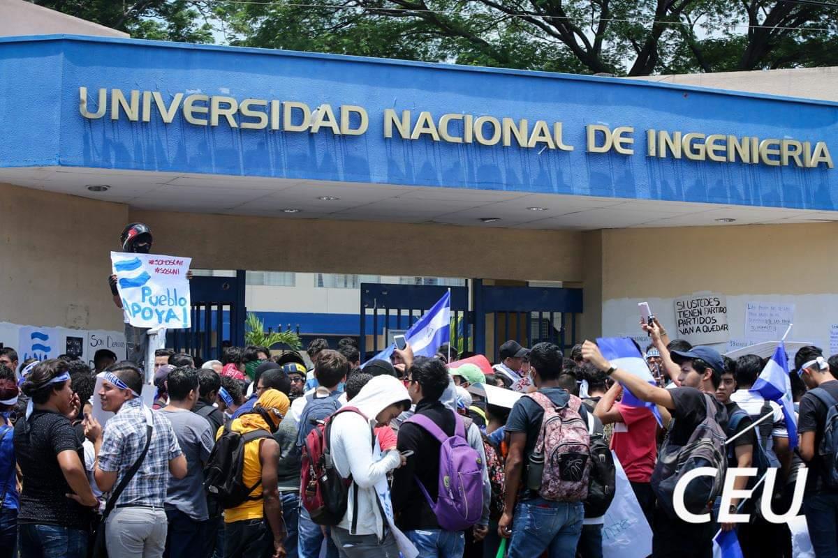 Movimiento estudiantil de la UNI respalda paro nacional. Foto: Cortesía