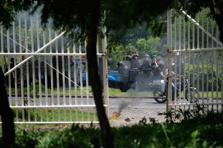 CIDH condena ataque policial en la Catedral de Managua en misa de acción de gracias. Foto: Cortesía