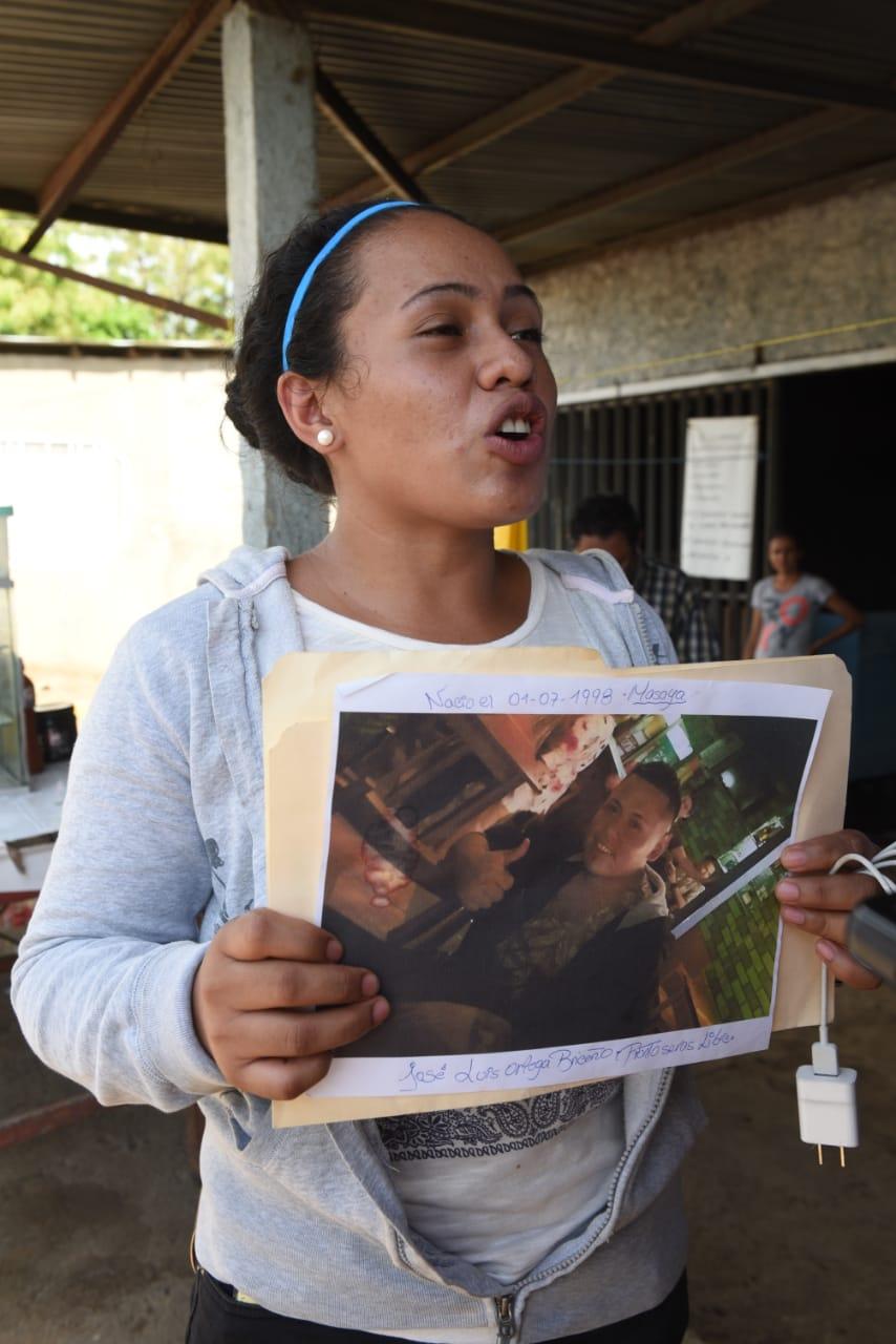 Anielka Ortega, hermana del preso político José Luis Ortega. Foto: Noel Miranda