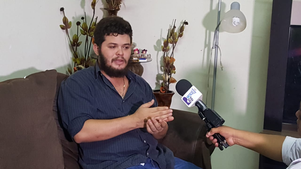 """Chester Navarrete: """"Soy sandinista pero no puedo estar a favor de un dictador"""". Foto: G. Hernández / Artículo 66"""
