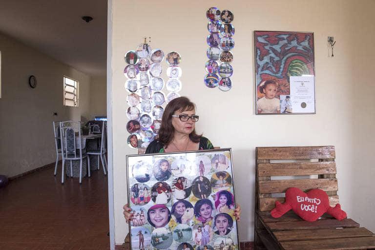 María José Da Costa, madre de la joven brasileña asesinada por un paramilitar orteguista. Foto: Folha de S. Paulo